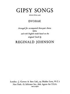 Dvorak, A Gipsy Songs Ssa/Piano  | Choral