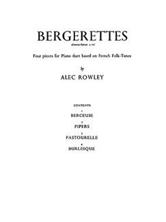 Rowley Bergerettes 4 Pcs For Pf/Duet  |