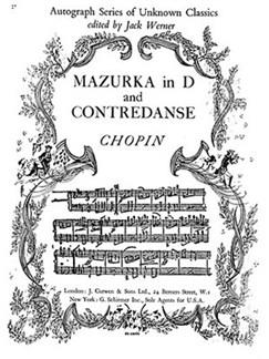 F. Chopin: Mazurka In D And Contredanse Piano Books | Piano