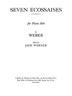Weber Seven Ecossaises Piano  | Klavier