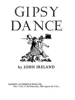 John Ireland: Gipsy Dance Books | Piano