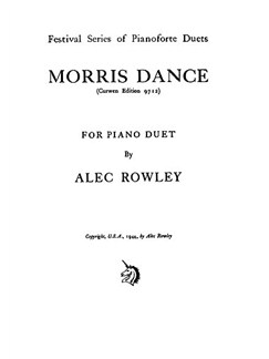 Alec Rowley: Morris Dance Piano Duet Books | Piano Duet