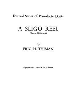 Thiman, E A Sligo Reel Piano Duet  | Piano