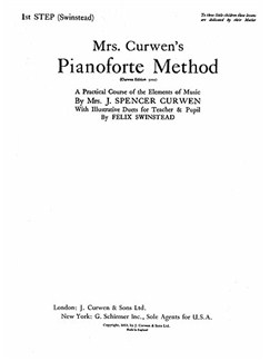Mrs Curwen's Pianoforte Method 1st Step (Swinstead) Books | Piano, Piano Duet