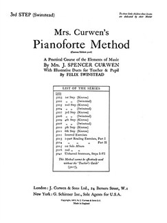 Mrs Curwen's Pianoforte Method 3rd Step (Swinstead) Books | Piano, Piano Duet