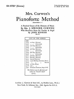 Mrs Curwen's Pianoforte Method 6th Step (Kinross) Books | Piano, Piano Duet