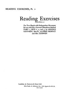 Mrs Curwen's Pianoforte Method 1st Reading Exercises Books | Piano