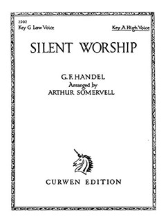 Handel: Silent Worship In A Books | High voice and piano