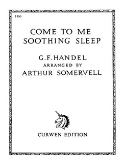 G.F. Handel: Come To Me Soothing Sleep Libro | Voz, Acompañamiento de Piano