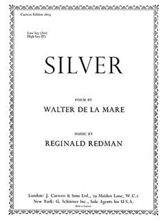Reginald Redman: Silver-low Books | High Voice, Piano Accompaniment