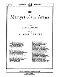 De Rille, L The Martyrs Of The Arena Ttbb/Piano  | Choral