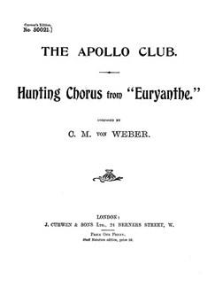 Weber Hunting Chorus Ttbb Tonic Solfa  | Tonic Sol-fa