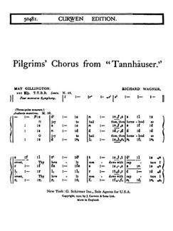 Wagner, R Pilgrims Chorus From Tannhauser Ttbb (Tonic)  | Coral