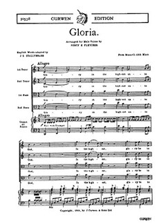 W.A. Mozart: Gloria (TTBB/Piano) - English Text Edition Books | TTBB, Piano Accompaniment