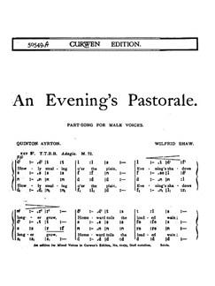 Shaw, W An Evening's Pastorale Ttbb/Tonic  | Chor