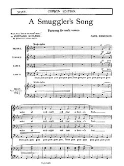 Paul Edmonds: A Smuggler's Song Libro | TTBB, Acompañamiento de Piano