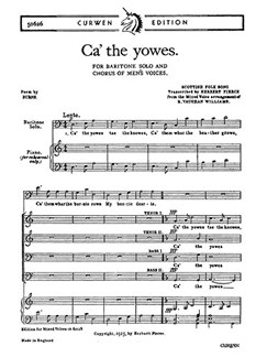 Vaughan Williams: Ca' The Yowes To The Knowes (Bar/TTBB) Books | Baritone, TTBB