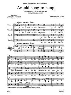 Armstrong Gibbs An Old Song Re-sung Ttbb (Unaccompanied) Buch | Männerstimmen