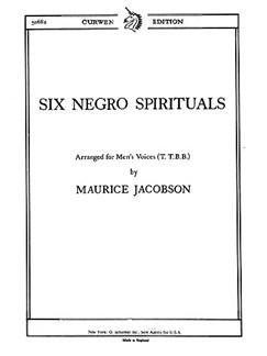 Maurice Jacobson: Six Negro Spirituals TTBB Books | TTBB