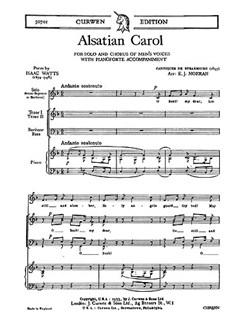 E. J. Moeran: Alsatian Carol Libro | Barítono Voz, TTBB, Acompañamiento de Piano