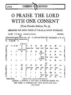 Handel Praise Lord Consent Ttbb Toni    Choral