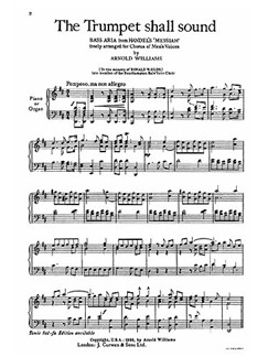 Handel, Gf The Trumpet Shall Sound Ttbb/Piano  | Choral