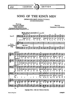 Dunhill, T Song Of The King's Men Ttbb/Piano  | Choral