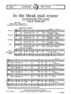 Leslie Woodgate: In The Bleak Mid-winter Books | 2 Tenor, 2 Bass