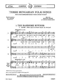 Seiber 3 Hungarian Folk-songs (Welsh) Ttbb Books | Choral