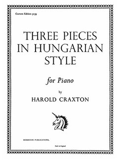 Craxton, H 3 Pieces In Hungarian Style Piano  | Klavier