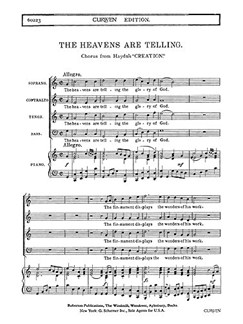 Haydn The Heavens Are Telling Satb Piano  | Kor