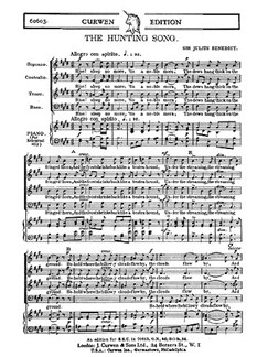 Benedict The Hunting Song Satb  | Choral