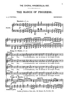 Giacomo Meyerbeer: March Of Progress (SATB) Books | SATB