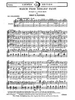 Fletcher March From Berloiz Satb  | Chor