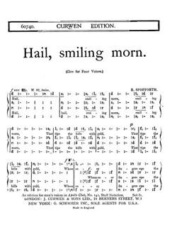 Spofforth Hail Smiling Morn Satb Ton  | Choral