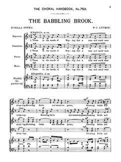 Lutkin The Babbling Brook Satb  | Choral