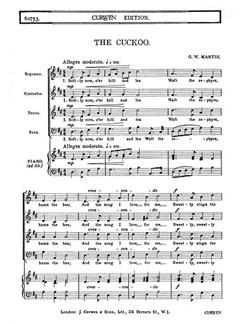 Martin The Cuckoo Satb  | Chor