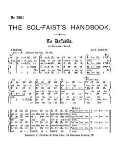 Joseph Barnby: To Daffodils (SATB Tonic Sol-fa) Books   SATB, Tonic Sol-fa