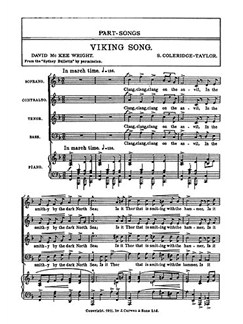 Coleridge-taylor Viking Song Satb  | Choral