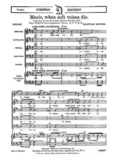 Bantock Music When Soft Die Satbb  | Choral