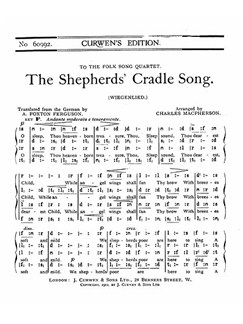 Charles Macpherson: The Shepherds' Cradle Song SATB Tonic Solfa Books | Tonic Sol-fa, SATB