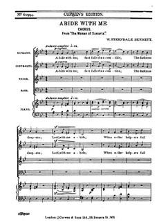 Bennett: Abide With Me SATB Books | SATB, Piano Accompaniment