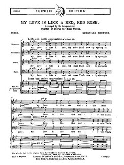 Granville Bantock: My Luve Is Like A Red, Red Rose (SATB) Books | SATB