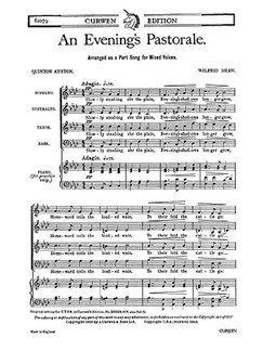Wilfrid Shaw: An Evening's Pastorale SATB/Piano Books | SATB