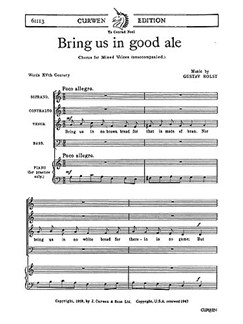 Gustav Holst: Bring Us In Good Ale Books | Soprano, Alto, Tenor, Bass