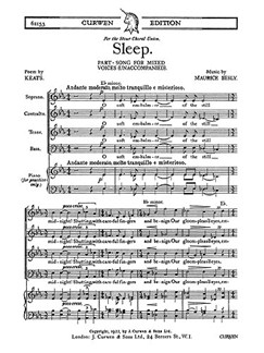 Maurice Besly: Sleep Books | SATB