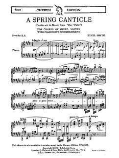 Ethel Smyth: A Spring Canticle From 'Der Wald' (Vocal Score) Buch | SATB (Gemischter Chor), Klavierbegleitung