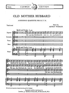 Wheeler Old Mother Hubbard Satb  | Choral