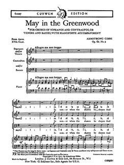 Cecil Armstrong Gibbs: May In The Greenwood (2-Part/Piano) Books | 2-Part Choir, Piano Accompaniment