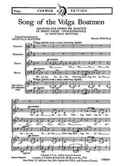 Bantock Song Volga Boatmen Satb  | Choral